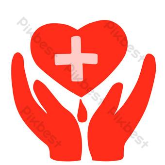 caridad de la cruz roja Elementos graficos Modelo PSD