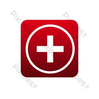 signo de la cruz roja Elementos graficos Modelo PSD
