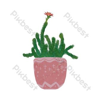 el hada de la flor roja se refiere a la maceta de acuarela Elementos graficos Modelo PSD