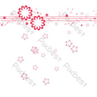 patrón de flor roja Elementos graficos Modelo PSD