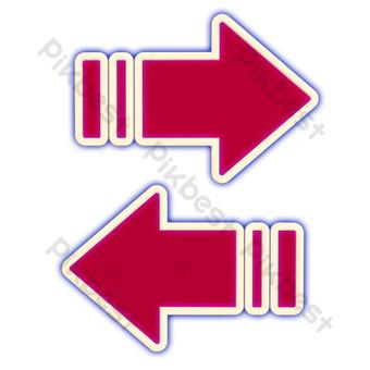 flecha roja brillante Elementos graficos Modelo C4D