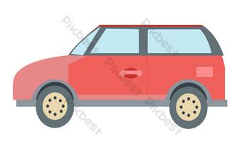mobil off road merah Elemen Grafis Templat AI