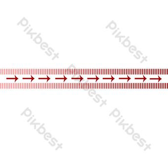 flecha roja que apunta a la línea divisoria Elementos graficos Modelo PSD