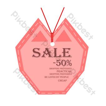 ilustración de etiqueta promocional roja Elementos graficos Modelo PSD