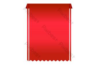 etiqueta promocional roja Elementos graficos Modelo AI