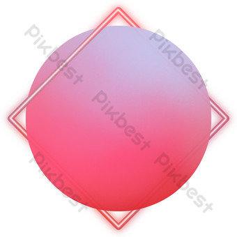 Red simple geometric border PNG Images Template PSD