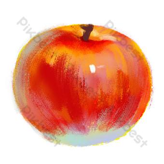 elemento de manzana de textura roja Elementos graficos Modelo PSD