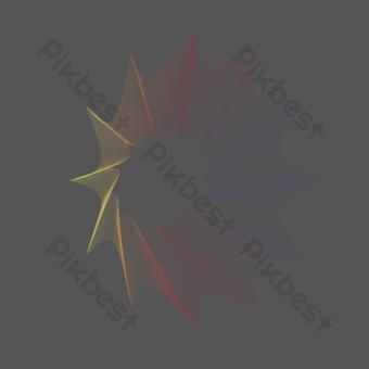 líneas de degradado abstracto azul amarillo rojo Elementos graficos Modelo AI