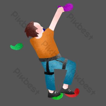 escalada en roca deportes extremos Elementos graficos Modelo PSD