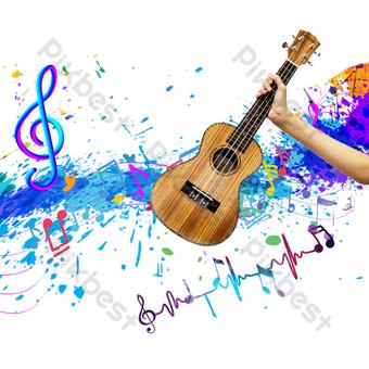 guitarra de musica rock Elementos graficos Modelo PSD