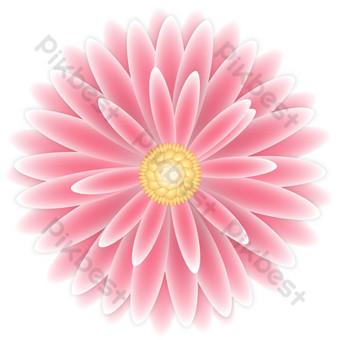 rosa roja flor decoracion vector transparente png Elementos graficos Modelo AI