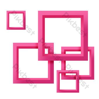 fondo cuadrado rojo rosa Elementos graficos Modelo PSD