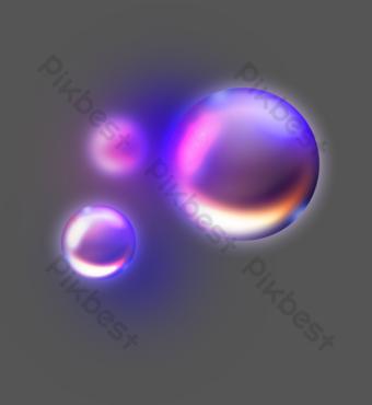 patrón decorativo fluido burbuja redonda Elementos graficos Modelo AI