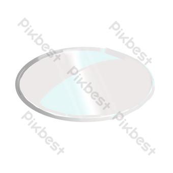 placa de vidrio redonda Elementos graficos Modelo PSD