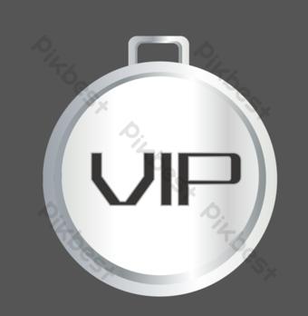 placa de identificación vip de metal redondo Elementos graficos Modelo AI