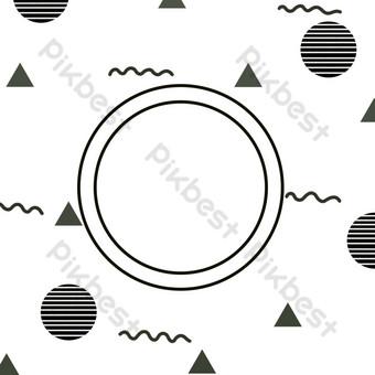 圓點線表面邊框紋理 元素 模板 PSD