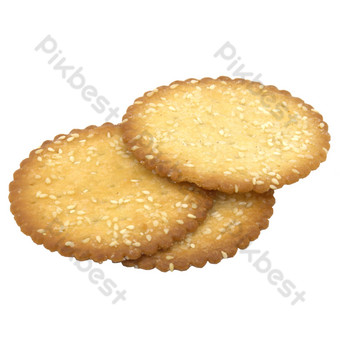 Round sesame cake PNG Images Template RAW