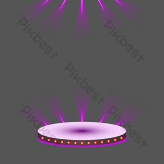 圓形舞檯燈光 元素 模板 AI