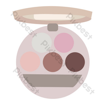 ilustración de paleta de sombra de ojos redonda de mujer Elementos graficos Modelo PSD