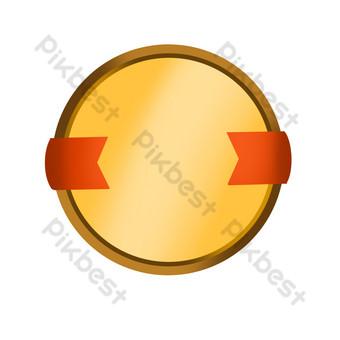 ilustración de placa amarilla redonda Elementos graficos Modelo PSD