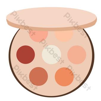 paleta de sombra de ojos amarilla redonda Elementos graficos Modelo PSD