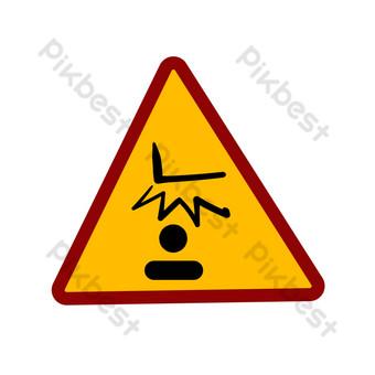 ilustración de icono de advertencia de seguridad Elementos graficos Modelo PSD