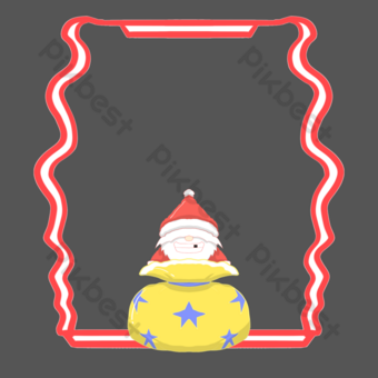 frontera de santa claus Elementos graficos Modelo PSD