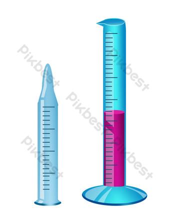 ilustración de suministros químicos decorativos a escala Elementos graficos Modelo PSD