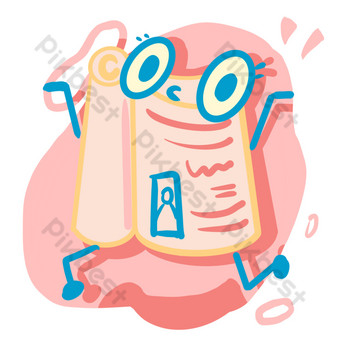 School season small fresh and cute happy learning reading book PNG free PNG Images Template PSD