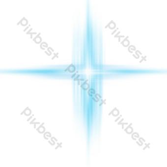 Sea blue star light spot design PNG Images Template PSD