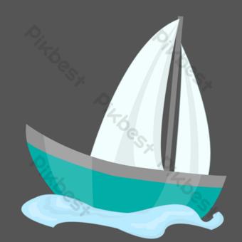 Sea sailing ship PNG Images Template PSD