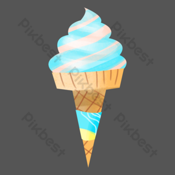 Sea salt ice cream snack PNG Images Template PSD