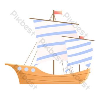 Sea transportation sailboat PNG Images Template PSD