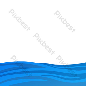 Sea water ripples PNG Images Template PSD