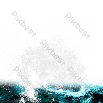 Sea water spray PNG Images Template PSD