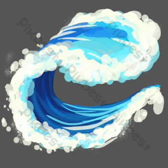 Sea water waves PNG Images Template PSD