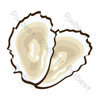 Seafood oysters PNG Images Template AI
