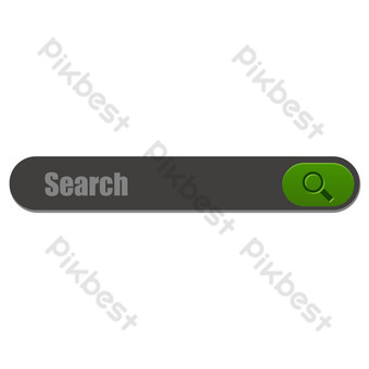 Search box 2 PNG Images Template AI