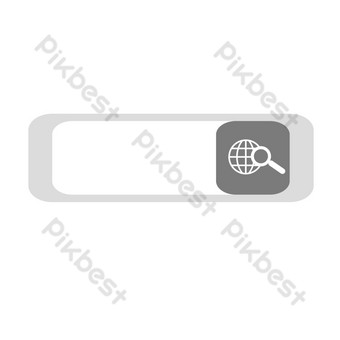 Search box find PNG Images Template PSD
