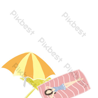 Seaside holiday element design PNG Images Template PSD
