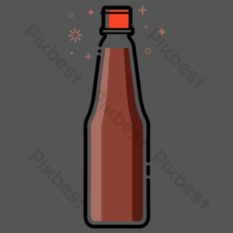 Seasoned soy sauce snacks PNG Images Template PSD