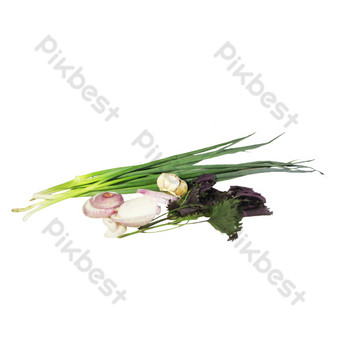 Seasoning agricultural products vegetable mix PNG Images Template RAW