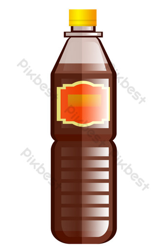 Seasoning soy sauce delicious PNG Images Template PSD