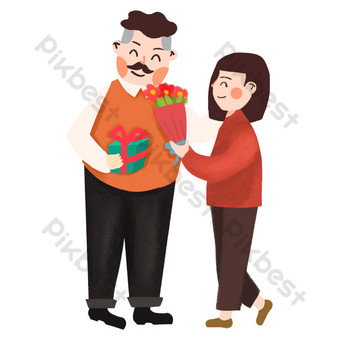 Send flowers to dad on father's day PNG Images Template PSD