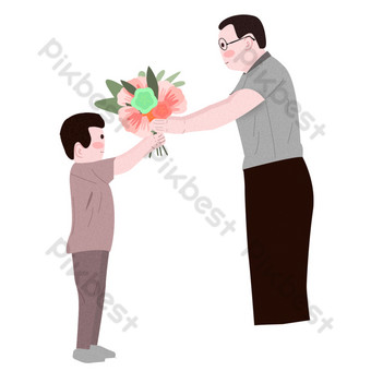 Send flowers to dear teacher free deduction PNG Images Template PSD