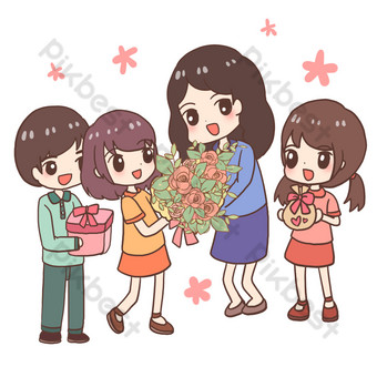 Send flowers to teachers on teacher's day PNG Images Template PSD