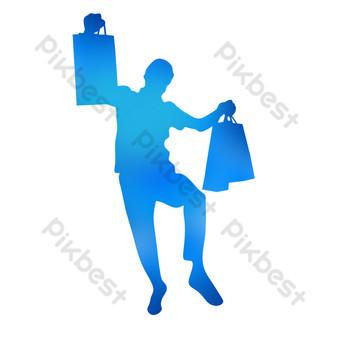 silueta de niño de compras Elementos graficos Modelo PSD