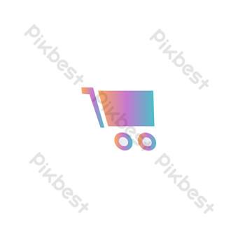icono de estilo de tecnología degradado de carrito de compras Elementos graficos Modelo AI