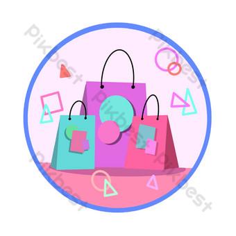 iconos de compras Elementos graficos Modelo PSD