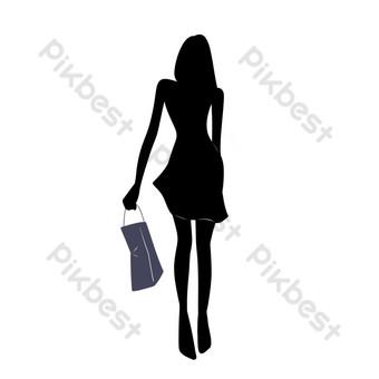 fotos de silueta de compras Elementos graficos Modelo PSD